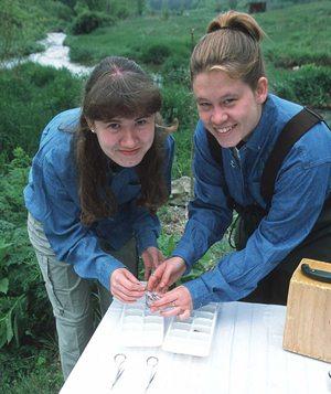Women testing water
