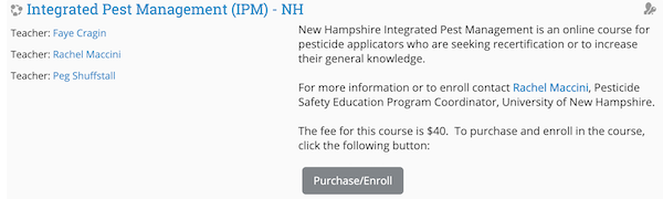 Image of fee based course description