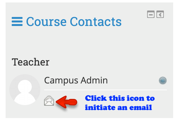 Course contact block