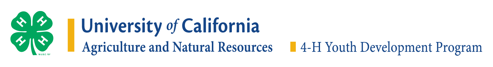 University of Calilifornia 4-H Logo in English