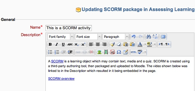 A SCORM Is Learning Object Which May Contain Text Media And Quiz Created Using Third Party Authoring Tool Then Packaged Uploaded To