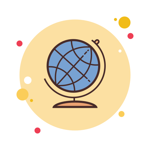 Icon of the world globe