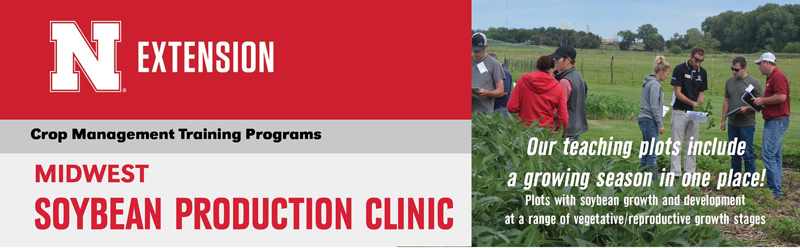 Midwest Soybean Production Crop Management Diagnostic Clinic Header