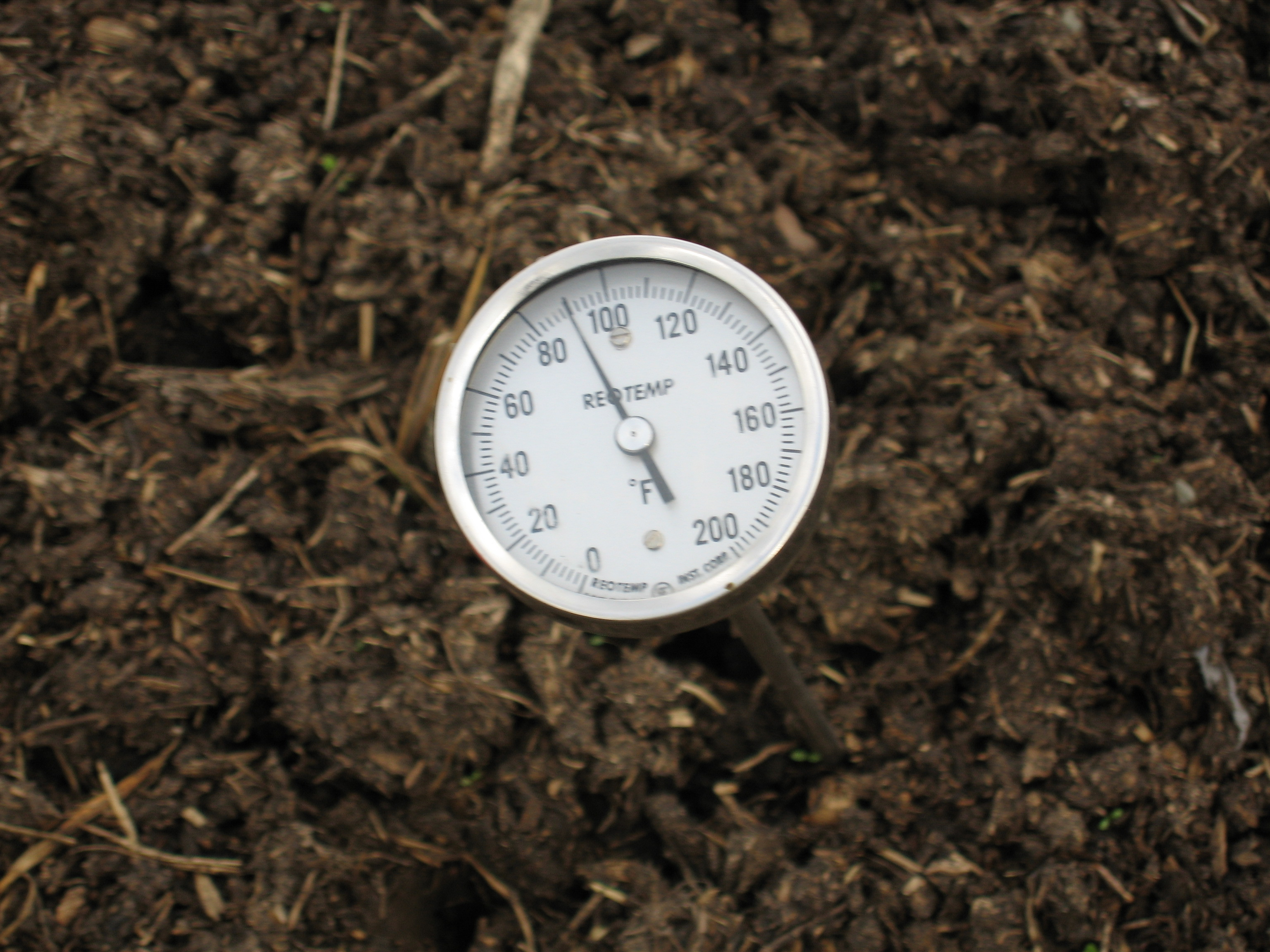 On farm composting view section 2 recipe for quality compost for Soil thermometer