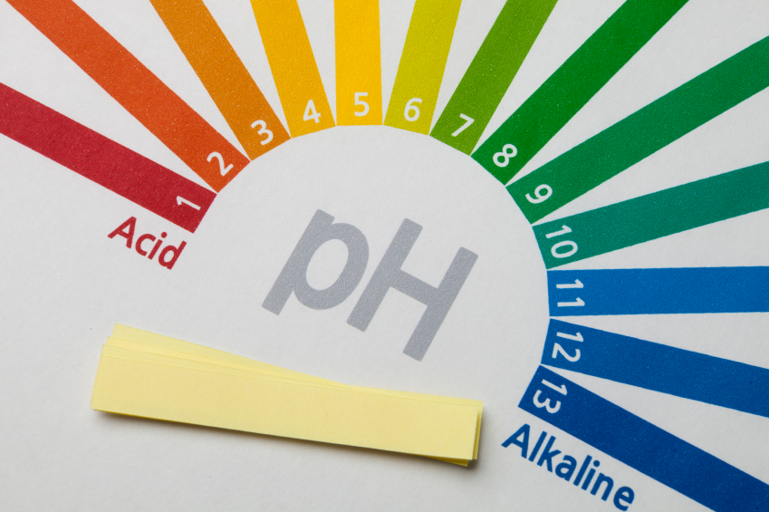Chart showing pH of 1 is highly acidic, pH of 13 is highly alkaline, and pH of 7 is neutral.