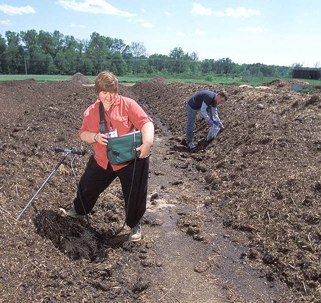 Monitoring the temperature of your compost pile is essential