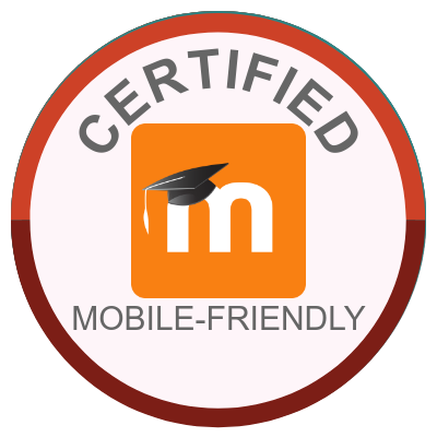 Certified mobile-friendly to use with the Moodle App.